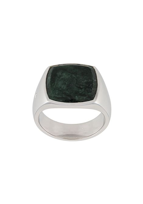 Two tone ring in silver-tone - men TOM WOOD | R74HPGMB01S925