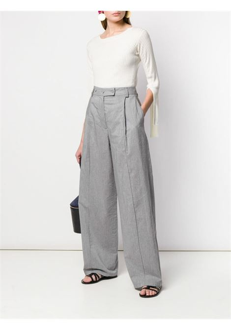 Wide-leg tailored trousers MAISON FLANEUR | 19SMDPA547TE257GRY