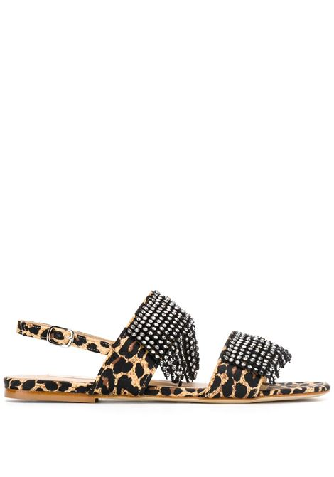 Leopard print leather sandals POLLY PLUME | Sandals | GIGIJNGL