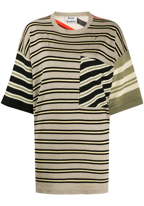Striped knit T-shirt ACNE STUDIOS | T-shirt | A60164AOG