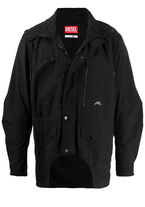 ACW x Diesel Red Tag logo hooded jacket A-COLD-WALL* | Outerwear | JK03BLCK