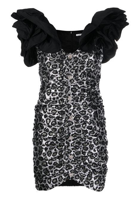 Leopard print ruffled strap dress ALESSANDRA RICH | Dresses | FAB2090F27580030