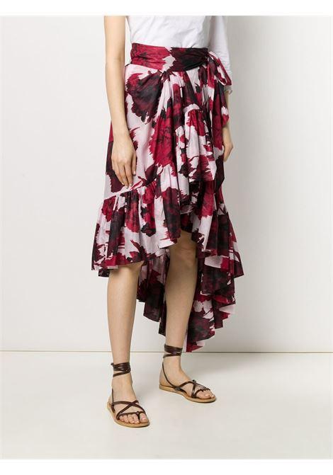 Floral print skirt ALEXANDRE VAUTHIER | 201SK12100201-1218CHRRY