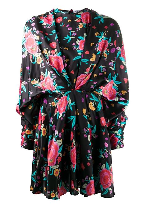Ruched style floral print dress THE ATTICO | Dresses | 201WCA19P021079