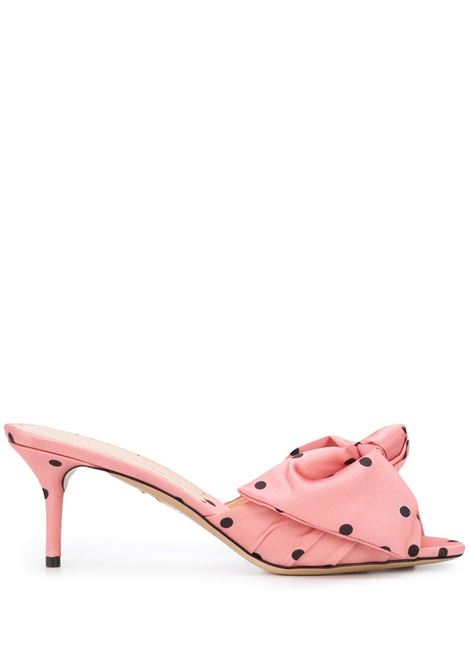 CHARLOTTE OLYMPIA Mules a pois CHARLOTTE OLYMPIA   Mules   OLC208022B11159POS1516