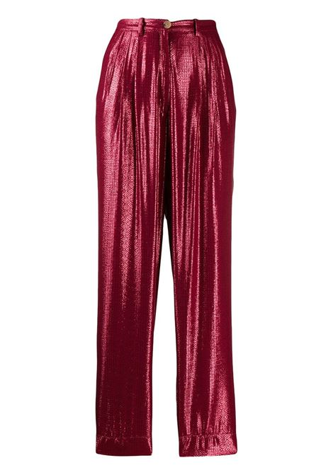 Geometric print straight trousers FORTE FORTE | Trousers | 7266RBN