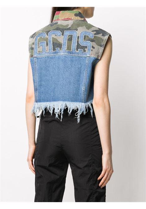 Patchwork cropped vest GCDS | W040074MX