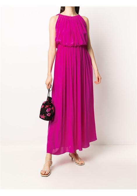 Pleated silk maxi dress GIANLUCA CAPANNOLO | 20EA1935007818