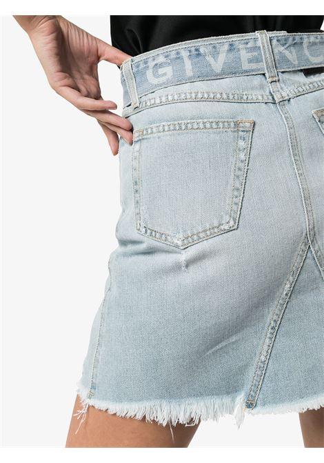 Belted denim mini skirt GIVENCHY | BW40DA50DH452