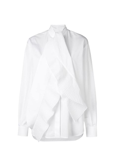 Pleated scarf detail cotton shirt GIVENCHY | BW60EK111N100