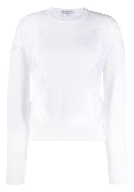 Lace panels sweatshirt GIVENCHY | BW90994Z6P100