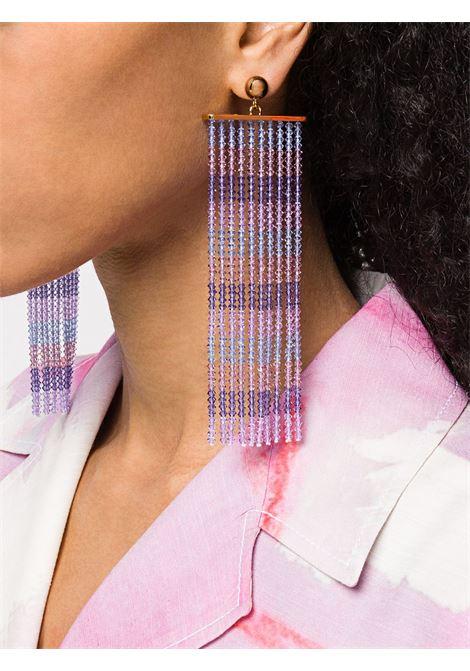 Beaded fringe earrings JACQUEMUS | 201JW1220181600LVNDR