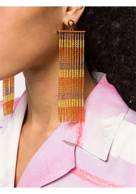 Beaded fringe earrings JACQUEMUS | 201JW1220181700ORNG