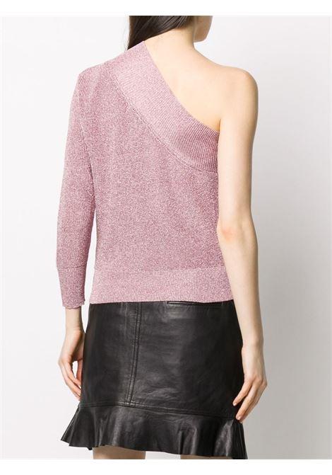 Laneus metallized one-sleeve top women rosa LANEUS | MGD1257611