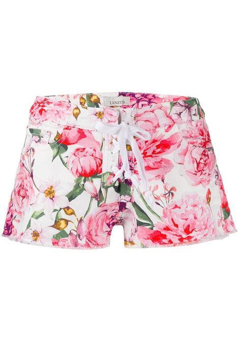 Floral print denim shorts LANEUS | Shorts | SHD05FR