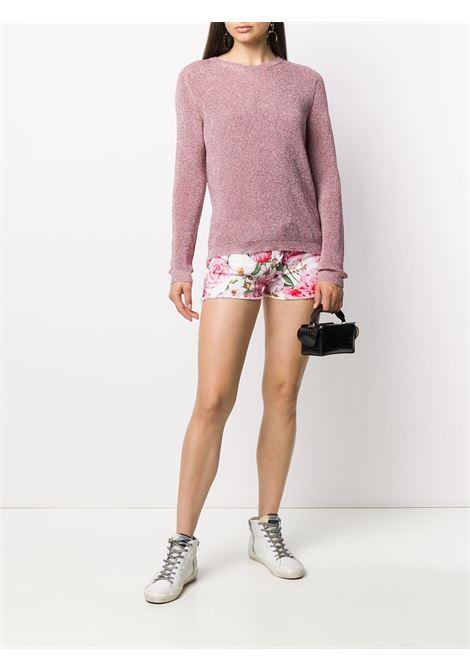 Floral print denim shorts LANEUS | SHD05FR