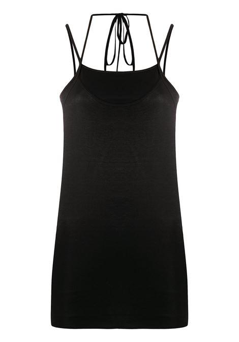 Lemaire top con spalline donna black LEMAIRE | Top | W202JE299LJ053999