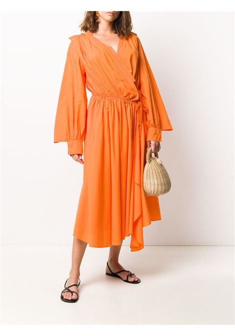 Asymmetric wrap dress MAISON FLANEUR | 20SMDDR210TC113ORNG
