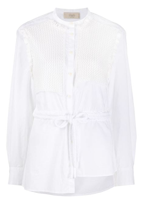 Embroidered panelled shirt MAISON FLANEUR | Shirts | 20SMDSH430TC113WHT