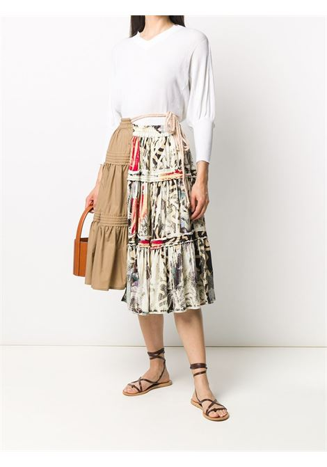 Contrast panel skirt MAISON FLANEUR | 20SMDSK320TV103CML