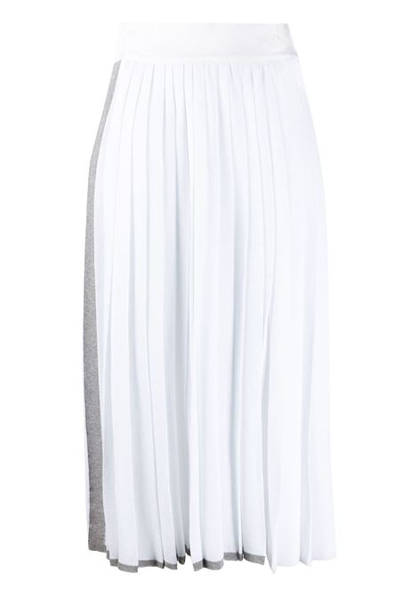 Side stripe detail pleated skirt MAISON FLANEUR | Skirts | 20SMDSK400FC032WHT