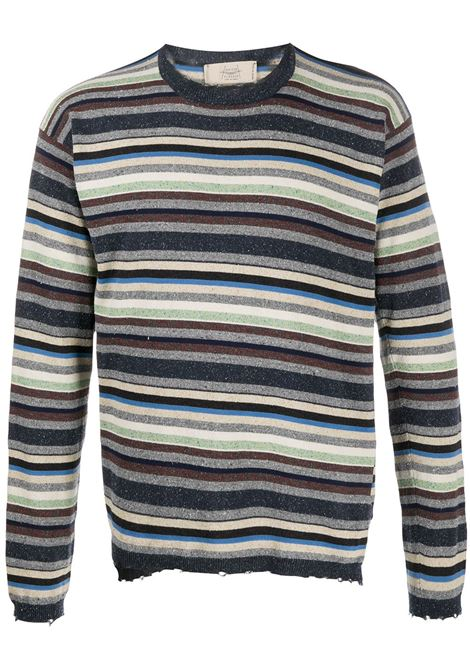 Striped distressed jumper MAISON FLANEUR | Sweaters | 20SMUSW781FS008MLT