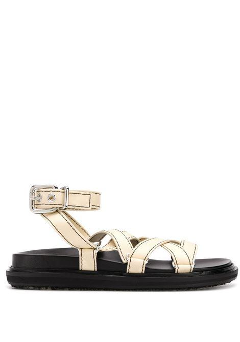 Cross-strap fussbett sandals MARNI | Sandals | FBMS007001P296500W16