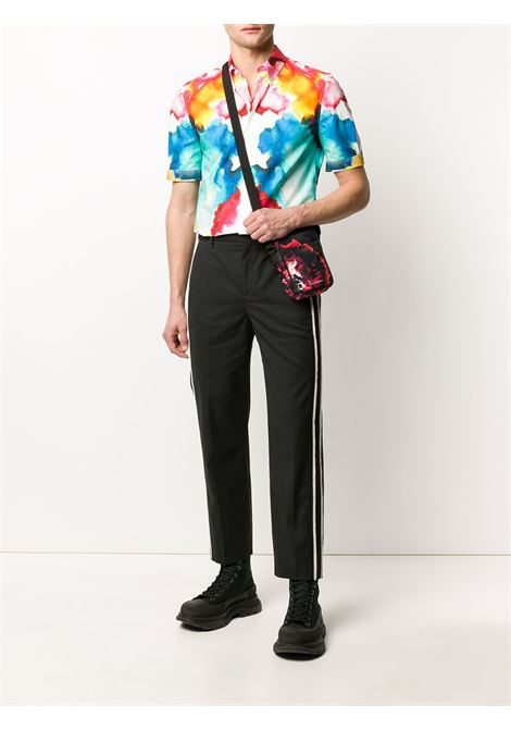 Side stripe tailored trousers NEIL BARRETT | BPA784AN073514