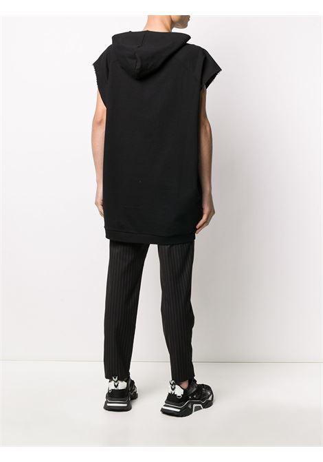 Smiley patch sleeveless hoodie RAF SIMONS | 201195C1900300099