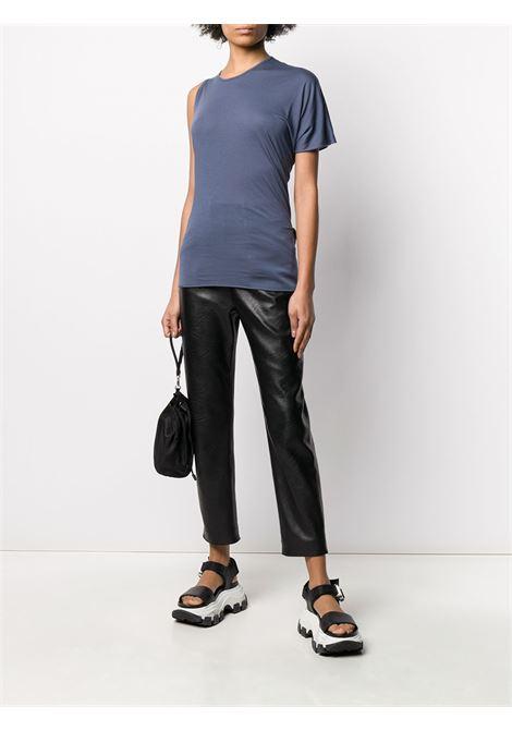 Asymmetric fitted T-shirt RICK OWENS LILIES | LI20S2113R86