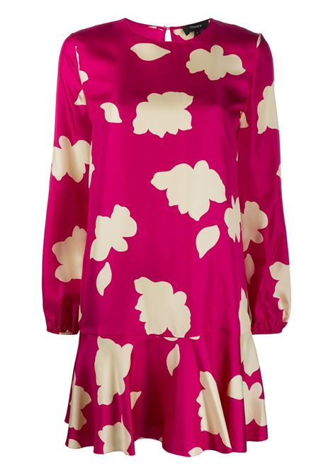 Foliage-print flared dress THEORY | Dresses | J1102602VJA
