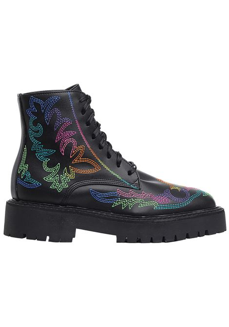 Ankle boots with print DAWNI X JESSIE WESTERN | Ankle-Boots | CA7955JWBLK