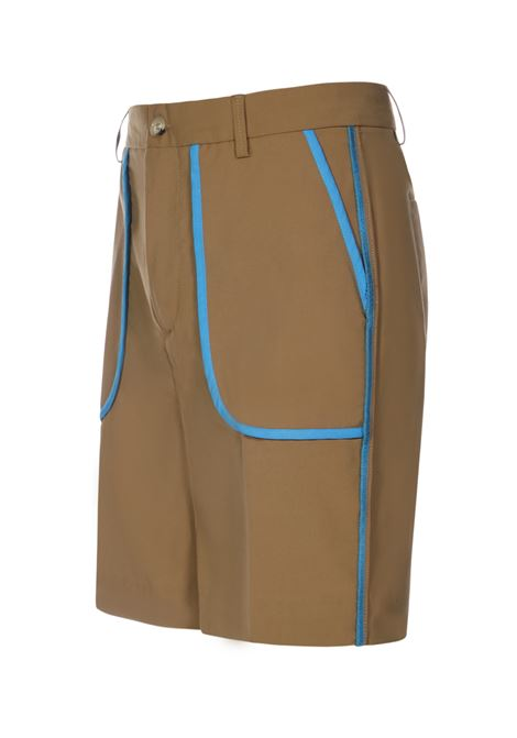 Bermuda shorts with blue lines brown- men 13 | BLULINESNCCL