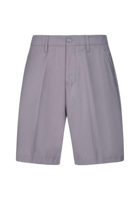 Bermuda shorts with belt loops grey- men 13 | ICEGHCC