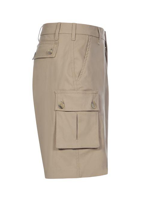 Multi pocket bermuda shorts beige- men 13 | MOUNTANARINGBG