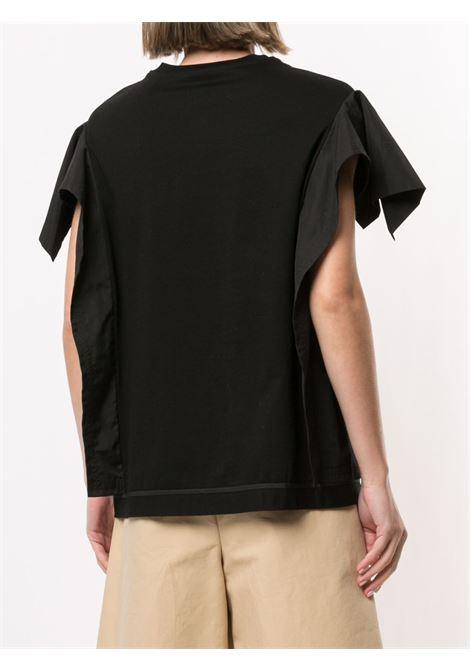 T-shirt con ruches sulle maniche nero- donna 3.1 PHILLIP LIM   E2111696MJYBA001