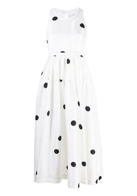 Dot print mid dress white black- women 3.1 PHILLIP LIM | Dresses | S2129436DUPAN103