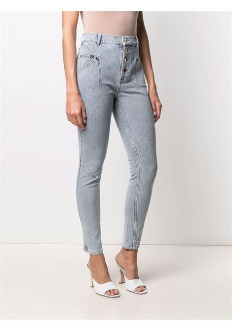 High waist skinny jeans blue-women ACLER | AL201007PBLWSH