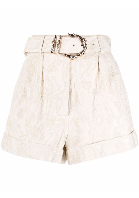 Shorts con fibbia in bamboo beige- donna ACLER | Shorts | AL210169PNTRL