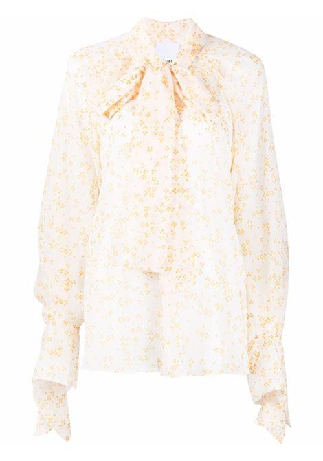 Blusa a maniche lunghe dettaglio sciarpa giallo- donna ACLER | Bluse | AS201051TYLLWSPT