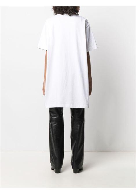 Abito modello t-shirt con logo bianco- donna ACNE STUDIOS | A20281183