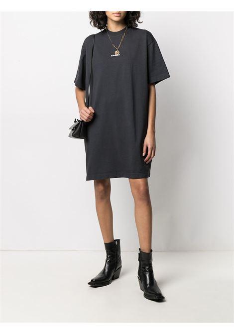Abito modello t-shirt con logo bianco- donna ACNE STUDIOS | A20281900