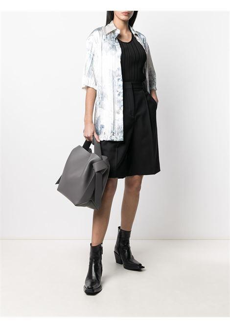 T-shirt con design a costine nero - donna ACNE STUDIOS | A60248900