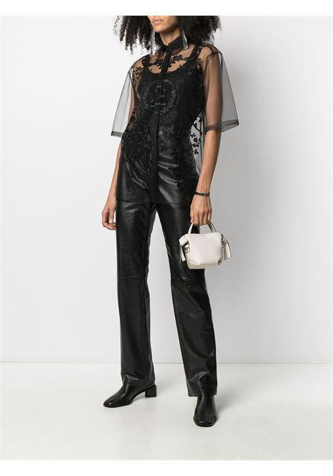 Camicia a maniche corte con logo nero - donna ACNE STUDIOS | AC0334900