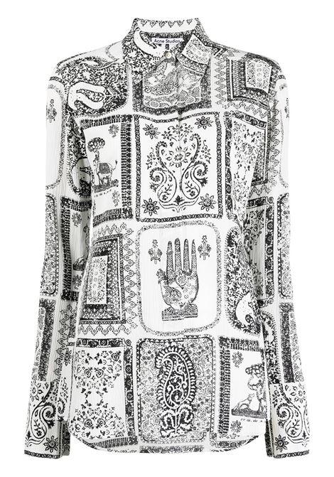 Acne Studios camicia con stampa donna off white ACNE STUDIOS | Bluse | AC0336AEG