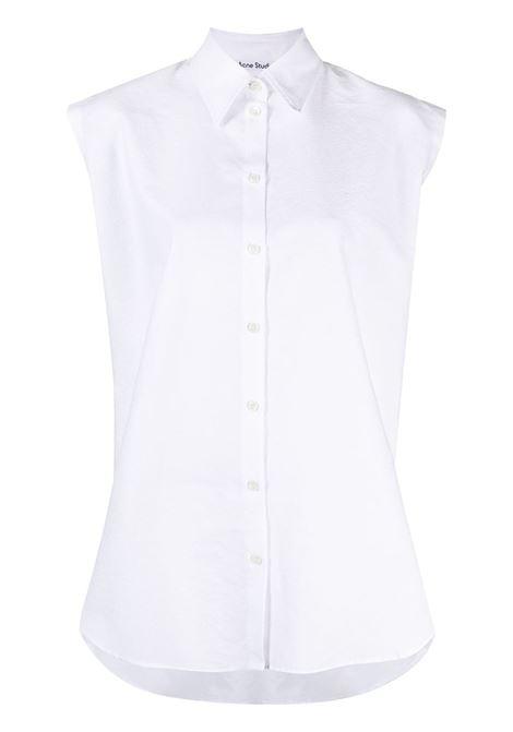 Acne studios camicia con maniche ad aletta donna white ACNE STUDIOS | Camicie | AC0341100