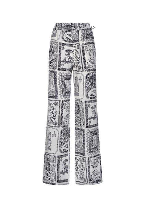 Pantaloni con stampa orientale donna ACNE STUDIOS | Pantaloni | AK0354AEG