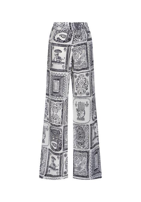Pantaloni con stampa orientale donna ACNE STUDIOS | AK0354AEG
