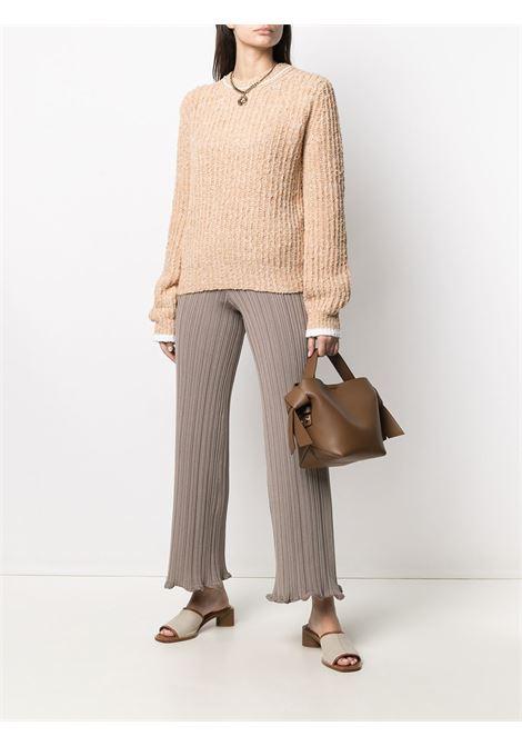 Pantaloni slim elasticizzato beige- donna ACNE STUDIOS | AK0372CGZ