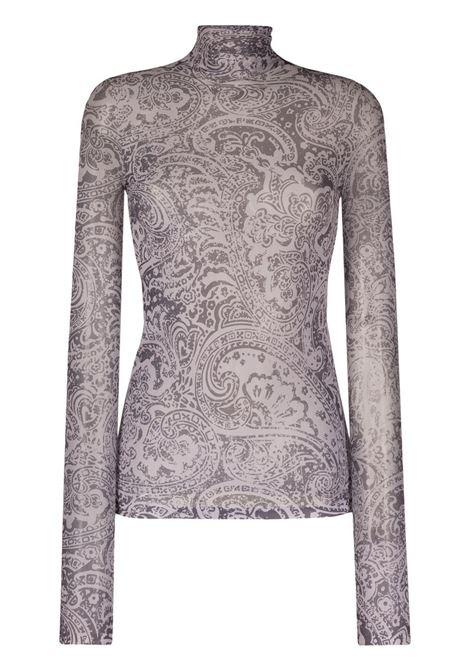 Acne studios paisley pattern top women grey ACNE STUDIOS | Top | AL0200902
